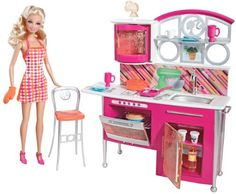 Barbie Stovetop To Tabletop Deluxe Kitchen and Doll Set * To view further for this item, visit the image link.