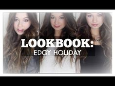 Edgy Holiday Lookbook | Tori Sterling #macup101 #youtube #holiday #lookbook #outfits #toristerling #hair #makeup