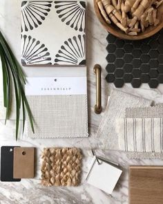 Put your ideas in a moodboard and let your interior design projects become reality. Moodboard Interior, Estilo Interior, Material Board, Interior Design Boards, Style Deco, Colour Board, Colour Schemes, Color Trends, Design Trends