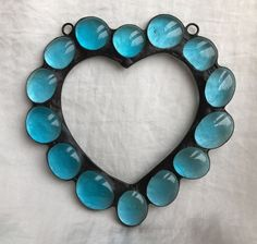 Stained Glass Love Heart Suncatcher