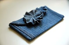 Denim clutch (upcycled from the leg of an old pair of jeans