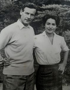 Captain Peter Townsend and Fiancee Marie Luce Jamagne Antwerp....striking resemblance to the Queen's late sister Princess Margaret and Townsend unrequited love