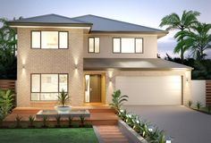 Unsure which Facade you want on your new Clarendon Home? View our Facade Gallery today to help you find your ideal Facade. 2 Storey House Design, House Front Design, Modern House Design, Clarendon Homes, Double Story House, Front House Landscaping, American Houses, New Home Builders, Display Homes