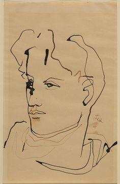 """lottereinigerforever: """"Jean Cocteau autoportrait """""""