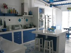 Are you a fan of Greek interior design motifs? These tips and ideas may inspire you to transform your own kitchen!