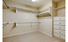 turn a spare bedroom into a walk-in closet. This can be Matt's room, don't you think?
