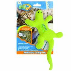 100-Percent Catnip Filled Lizard Cat Toy, Groovy Gecko Our Pets http://www.amazon.com/dp/B005BP8OIY/ref=cm_sw_r_pi_dp_Lga6tb1RVTTSQ