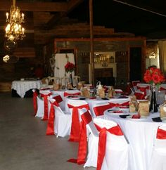 Wedding chairs # red #black #white tables