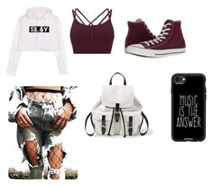 """Slay"" by lori-sansing on Polyvore featuring Sweaty Betty, Converse, Steve Madden and Casetify"