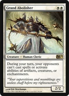 Grand Abolisher - Magic 2012 (M12) - Modern Legal Cards - Magic: The Gathering - 3.5