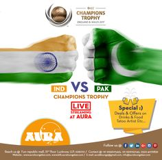 The Tiger is Again Ready To Hunt, Watch India Vs Pakistan Live Streaming at Aura Bar  #Sports #ICCTrophy #ICC #INDvsPAK #Championship #Live #Trophey #LiveStreaming #ICCChampionsTrophy2017 #Cricket #ICCChampions #4June2017 #Sunday #MahaMukabala #War #India #War2017 #Pakistan #Weekend #Aura #Lounge #Drinks #Offers #Food #Beer #Party #Saturday #Sunday #Celebrations #Songs #Bar #Tequila #Restaurant #Fun #QuoteofDay #Summers #Lucknow #UP #India