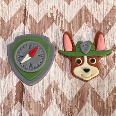 Fondant Paw Patrol cupcake toppers pups and/or shield badges