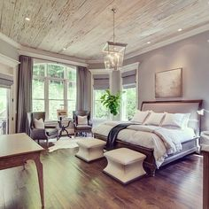 Master Bedroom love! #tennesseevalleyhomes #nashville #master #bedroom #hardwood #gray #design #nashvillerealestate #sold #realestate