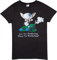 e1a123de870 Pondering Pinky and the Brain T-Shirt - 80sTees.com T-Shirt Review