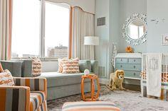Downtown Boston Penthouse by Lovejoy Designs, una habitación infantil preciosa. #decoración #infantil
