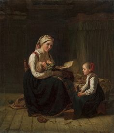 Child And Child, Mother And Child, North Europe, Family First, Food Art, Art History, American Girl, Norway, Scandinavian