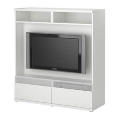 Bestå boås tv storage unit - white - ikea rose--what do you think? this media center isn't terribly expensive. Fancy Living Rooms, Ikea Living Room, Dining Room, Tv Storage Unit, Wall Storage, Storage Ideas, Loft Playroom, Ikea Drawers, Besta