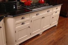 Inset kitchen cabinets from Neal's Design Remodel.