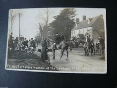 The Old Berkshire Hounds at the Lamb and Flag 1912 RP Postcard - Oxfordshire | eBay