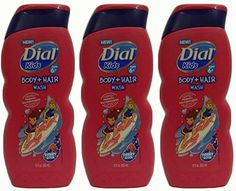 Dial Kids Body + Hair Wash, Berry Cool, 12 Ounce (Pack of Body Shampoo, Berry, Kids, Hair, Products, Young Children, Boys, Bury, Children