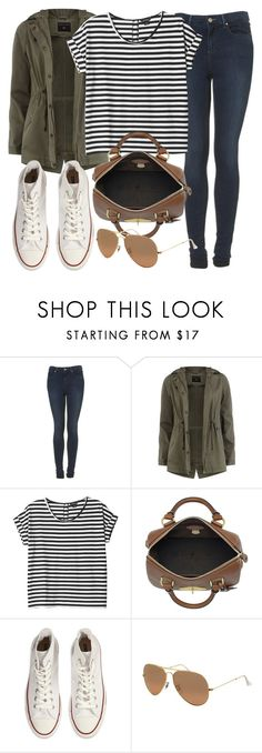 """""""outfit for university"""" by im-emma ❤ liked on Polyvore featuring Topshop, Dorothy Perkins, Monki, Mulberry, Converse and Ray-Ban"""