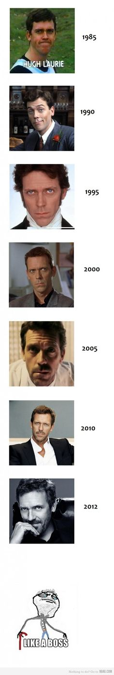 Oh my gosh. He's gorgeous! ^.^ Gregory House, Beautiful Men, Beautiful People, Pretty People, Funny Love Pictures, Goofy Pictures, Mejores Series Tv, House Md, Hugh Laurie