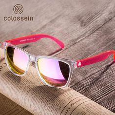1bb105d8e348 COLOSSEIN Sports Sunglasses Women Fashion Sun glasses Colorful Square Frame  Eyewear Holiday Beach Style Adult Glasses