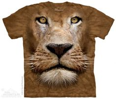 Lion Face T-Shirt at theBIGzoo.com, an animal-themed store established in August 2000.