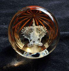 CAITHNESS GLASS PAPERWEIGHT - GOLDEN JUBILEE MAGNUM