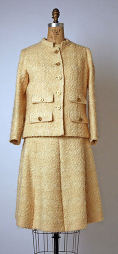 Suit House of Chanel (French) ca. spring/ summer 1970 wool, silk