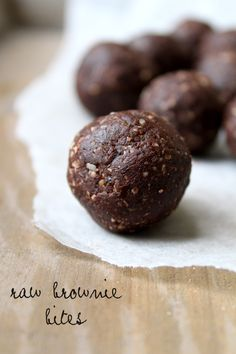Raw Brownie Bites from Our Little Green Dot