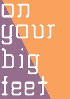 Free Font Of The Day : Big Foot