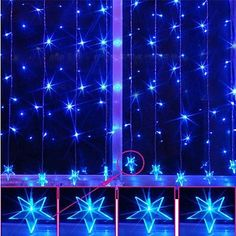 2Mx12M Blue Pentagram LED String Lamp with 120 LEDs Christmas  Halloween Decoration >>> You can get more details by clicking on the image.  This link participates in Amazon Service LLC Associates Program, a program designed to let participant earn advertising fees by advertising and linking to Amazon.com.