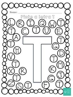 Simples Caixa de Ideias: Caça Letras A-Z Letter T Activities, Preschool Letters, Free Preschool, Preschool Lessons, Kindergarten Worksheets, Letter Find, Finger Plays, Letter A Crafts, Alphabet