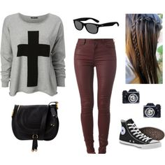 polyvore outfits | Leather skinny jeans outfit - Polyvore love,love,love