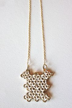 White and Gold Tribal Hex Nut Necklace. $60.00, via Etsy.