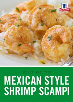 This Mexican twist on a classic shrimp scampi recipe has a touch of heat and spice from our Perfect Pinch Mexican Seasoning and draws its fresh flavor from lime juice and cilantro. Shrimp Recipes, Pork Recipes, Slow Cooker Recipes, Pasta Recipes, Mexican Food Recipes, Vegetarian Recipes, Chicken Recipes, Cooking Recipes, Healthy Recipes