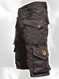 Men Short Pants Hipster, Tribal, Steampunk, Cargo Pants, Burning Man, Suit, Pocket Pants,Brass Hard Wear,Gift For Men .Psy Trance Boho.Gift