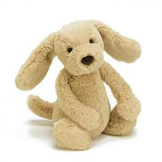 This is the gorgeous Jellycat Bashful Toffee Puppy, one of Jellycat's cutest puppies. He has a retriever like, golden fur body, brown nose and the most adorable looks. This is sure to be a real favourite with puppy lovers the world over. Small Puppies, Cute Puppies, Dogs And Puppies, Doggies, Toffee, Pram Toys, Jellycat, Newborn Baby Gifts, Baby Toys