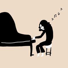 小学校でピアノを弾く人 #ピアノ #高木正勝