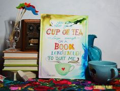 Not a Book Big Enough Quote - Vertical Print