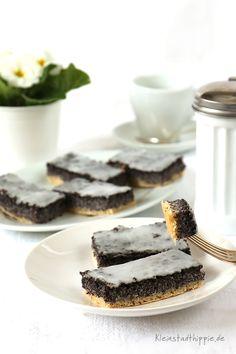 veganer, schlesischer Mohnkuchen mit Zuckerguss