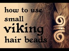 How to place your small viking hair beads