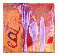 purple analogous collage