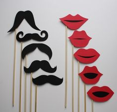 Photo Booth Props Wedding Photo Props Photo by ThePaperStache. , via Etsy.