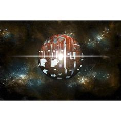An artists depiction of a theoretical Dyson sphere Canvas Art - Marc WardStocktrek Images (35 x 24)