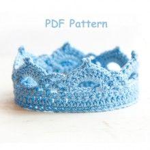 Crochet Pattern - Princess or Prince Crochet Crown Newborn Pattern - Photography Prop Pattern