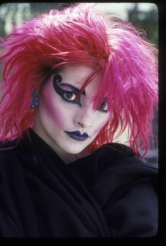 Nina Hagen by Brad Elterman, 1978 Goth Makeup, Beauty Makeup, Eye Makeup, 1980s Makeup, Nina Hagen, 80s Goth, Punk Goth, New Wave Music, The Wedding Singer