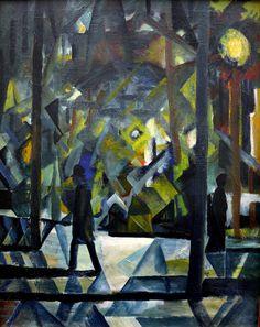 August Macke - Abend, 1912 at Kunsthaus Zürich - Zurich Switzerland | Flickr - Photo Sharing!