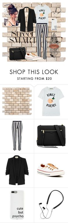 """street smart.."" by cloversmiles ❤ liked on Polyvore featuring Être Cécile, River Island, Converse, Polaroid, StreetStyle, cute, peach, converse and CasualChic"
